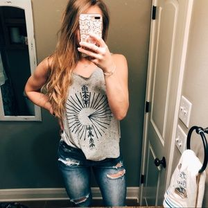 O'Neill Tops - O'Neill Gray Speckled Space Tank Top